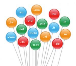 Imagen sobre las extensiones de dominios en Internet