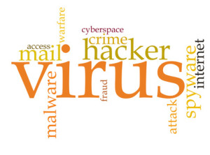 Firewall Virus word cloud